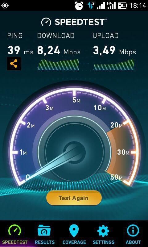 Tốc độ mạng 3G của Vietnamobile tại TPHCM, khu vực gần sân bay