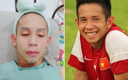 Cầu thủ Hồng Duy của U23 VN thích đắp mặt nạ