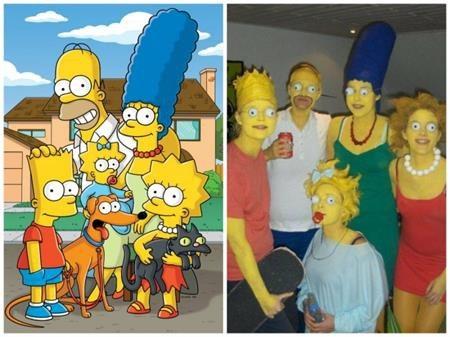 Đây quả là một màn hóa trang ấn tượng thành gia đình Simpsons