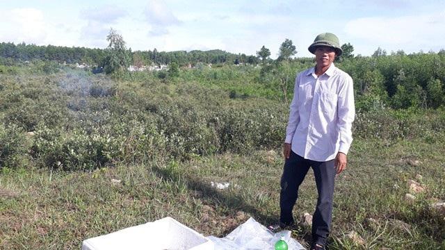 Ông chủ vườn sim 2 ha Phan Thanh Nhàn rất tự tin vào tương lai của vườn sim. Ảnh: Dân Việt