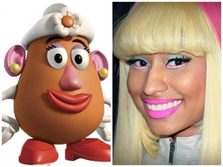 """Nicki Minaj chẳng biết có nên vui mừng vì được ví von với quý bà khoai tây trong """"Toy story"""" hay không?"""