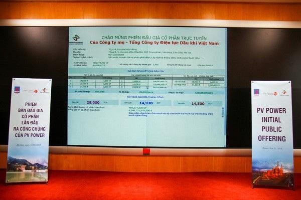 Phiên đấu giá cổ phần PVPower sáng ngày 31/1