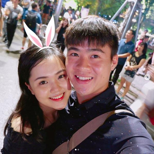Duy Mạnh và bạn gái Quỳnh Anh