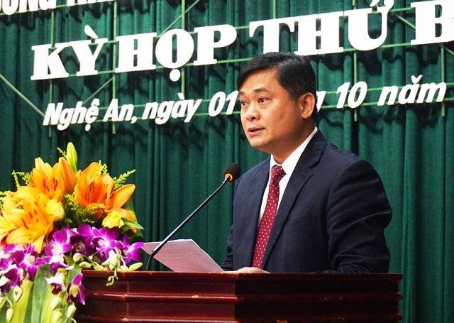 Ông Thái Thanh Quý phát biểu tại buổi họp bất thường.