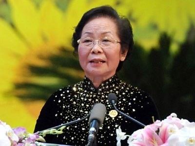 GS.TS Nguyễn Thị Doan, nguyên Phó Chủ tịch nước, Chủ tịch Hội Khuyến học Việt Nam