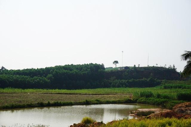 Khu vực đồi Triệu, nơi được xem là có trữ lượng đá quý lớn thứ 2 ở xã Châu Bình.