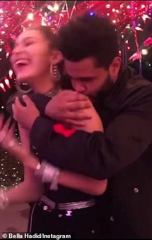 The Weeknd trao cho Bella Hadid những cử chỉ ngọt ngào, tình tứ