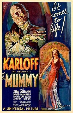 Tấm poster nguyên bản của bộ phim The Mummy năm 1932 được rao bán với giá 1 - 1,5 triệu USD. (Nguồn: Courtesy Sothebys/Reuters)