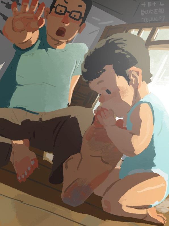 """Một khoảnh khắc vui nhộn giữa cha và con Bộ tranh đầy cảm động về tình cha con """"gây sốt"""" cư dân mạng"""