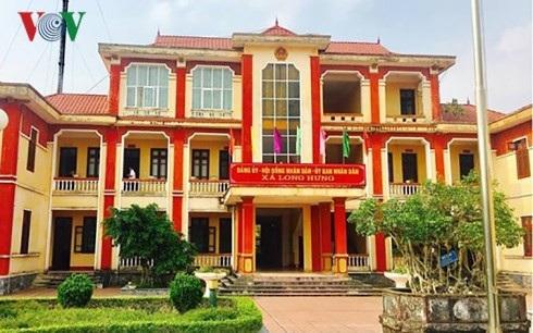Trụ sở UBND xã Long Hưng, huyện Văn Giang, Hưng Yên (Ảnh: VOV).