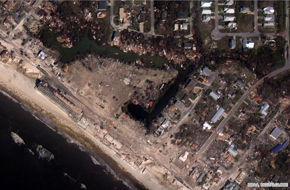 Siêu bão Michael tấn công nước Mỹ: 16 người chết, cả thị trấn bị xóa sổ - 2