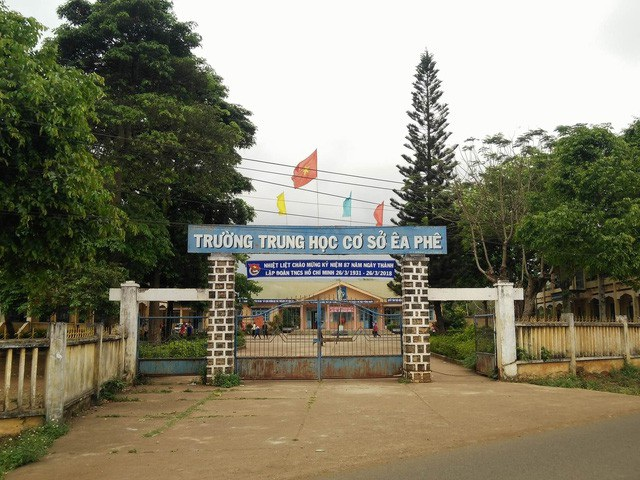Trường THCS Êa Phê nơi ông Phan Xuân Hạnh từng công tác.