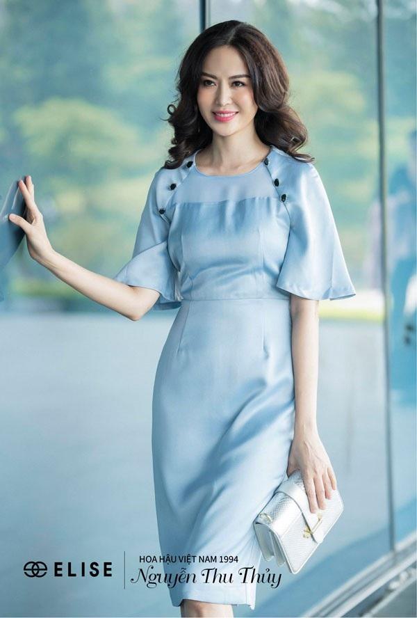 Hình ảnh mới nhất của Hoa hậu Thu Thủy với thời trang Elise.
