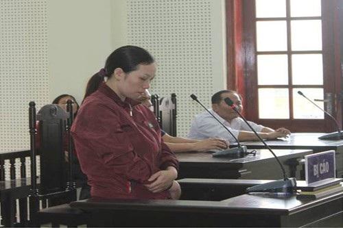 Bị cáo Cao Thị Tâm tại phiên tòa