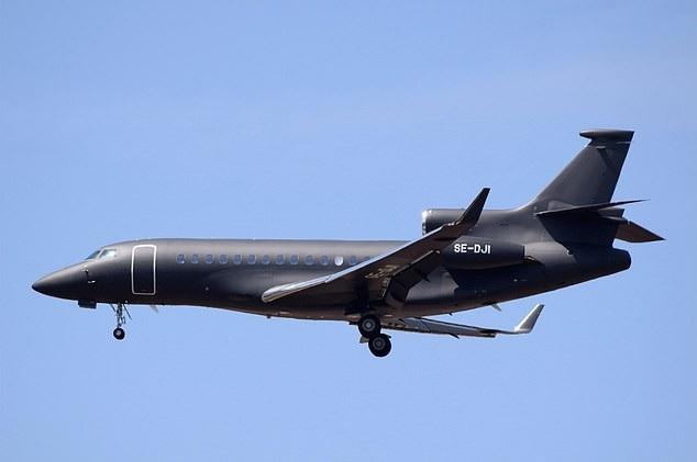 Chiếc máy bay Dassault Falcon 7X (Ảnh: Dailymail)