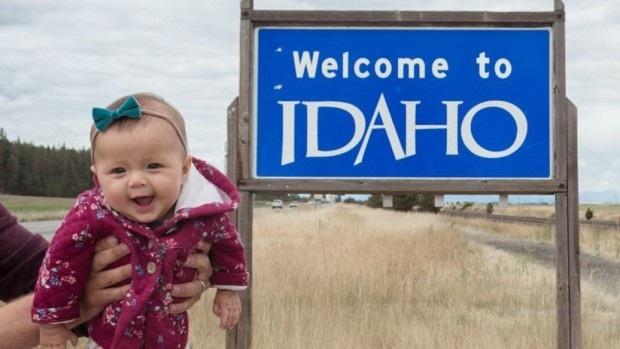 Ngay từ khi 8 tuần tuổi, bé gái đã theo bố mẹ đi khắp nước Mỹ