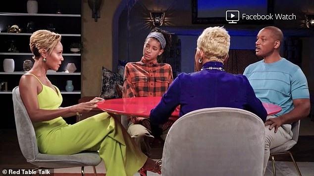 Cuộc trò chuyện cởi mở có sự góp mặt của Will - Jada - cô con gái Willow - mẹ đẻ của Jada