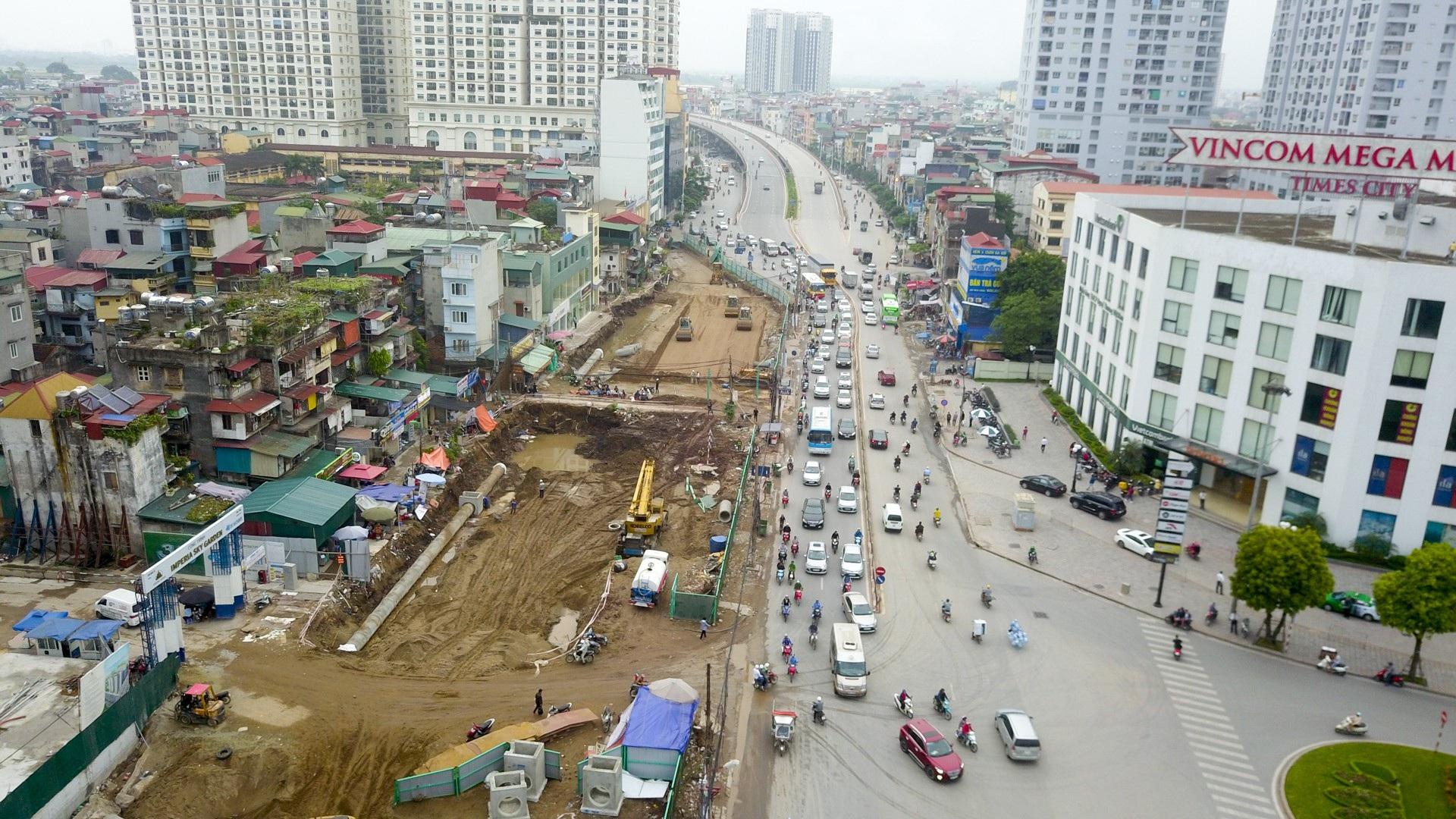 Toàn cảnh tuyến đường trên cao gần 10.000 tỷ giải cứu giao thông Ngã Tư Sở - cầu Vĩnh Tuy - Ảnh 10.