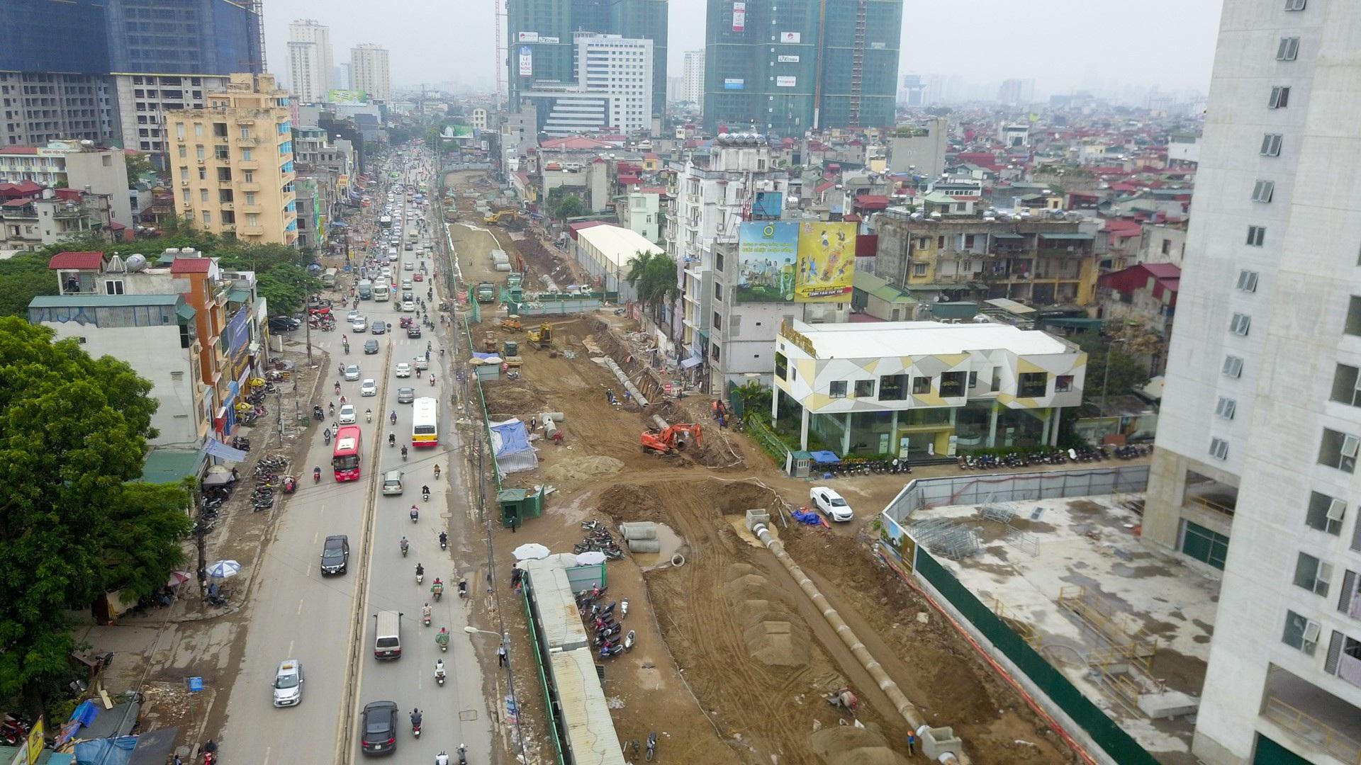 Toàn cảnh tuyến đường trên cao gần 10.000 tỷ giải cứu giao thông Ngã Tư Sở - cầu Vĩnh Tuy - Ảnh 12.