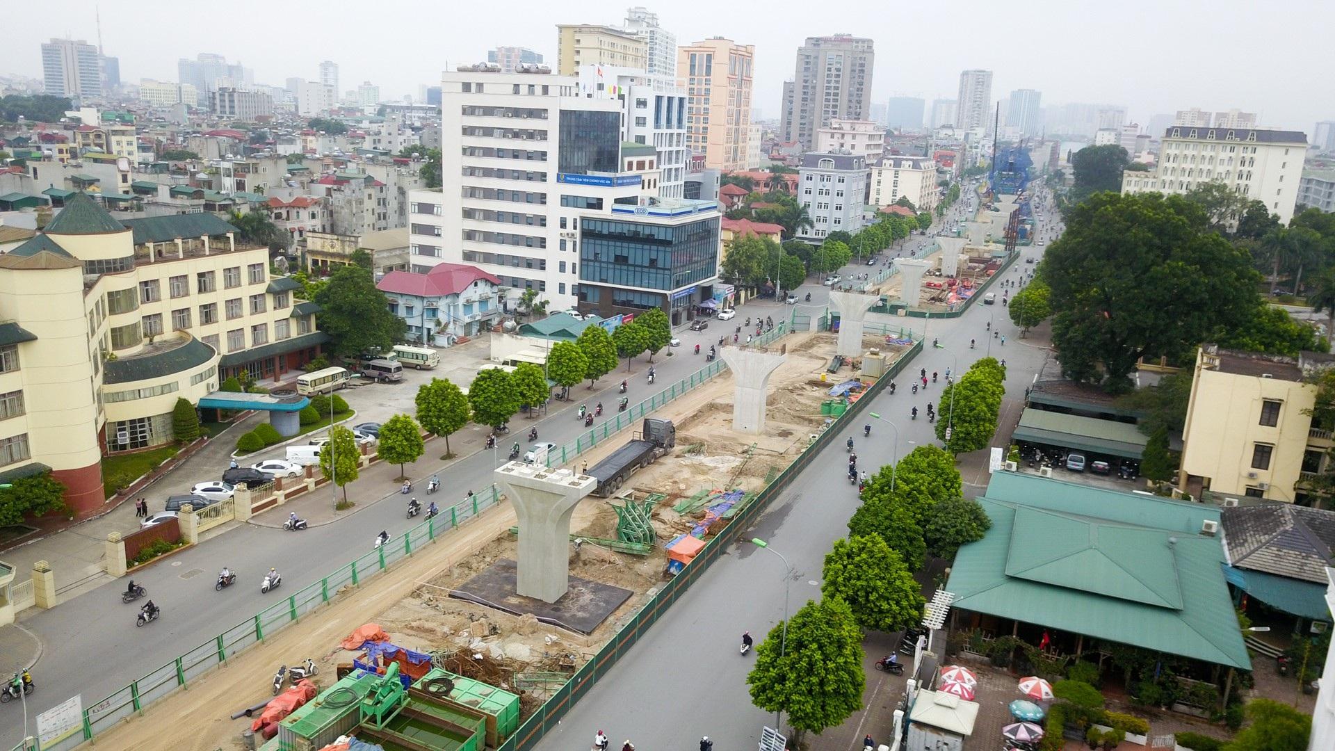 Toàn cảnh tuyến đường trên cao gần 10.000 tỷ giải cứu giao thông Ngã Tư Sở - cầu Vĩnh Tuy - Ảnh 1.