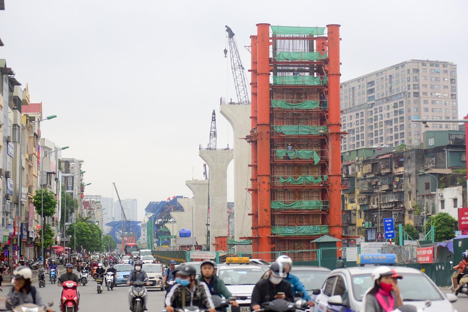 Toàn cảnh tuyến đường trên cao gần 10.000 tỷ giải cứu giao thông Ngã Tư Sở - cầu Vĩnh Tuy - Ảnh 3.