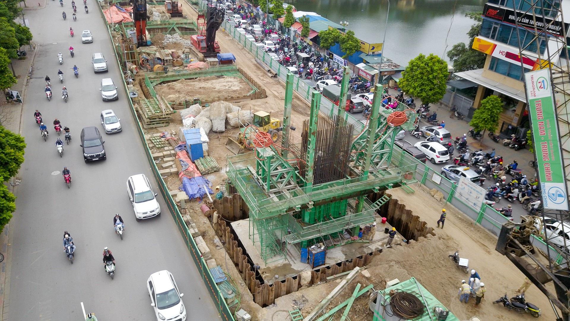 Toàn cảnh tuyến đường trên cao gần 10.000 tỷ giải cứu giao thông Ngã Tư Sở - cầu Vĩnh Tuy - Ảnh 6.