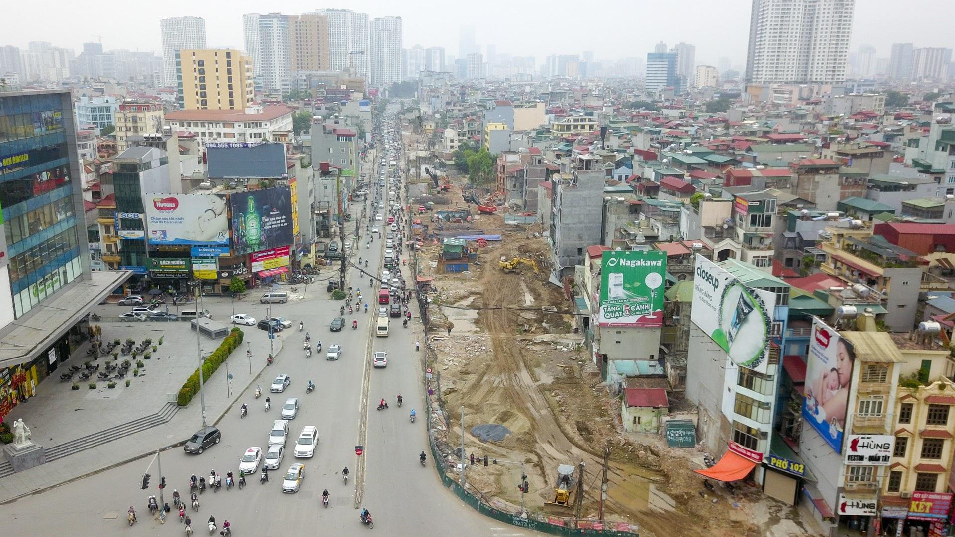 Toàn cảnh tuyến đường trên cao gần 10.000 tỷ giải cứu giao thông Ngã Tư Sở - cầu Vĩnh Tuy - Ảnh 14.