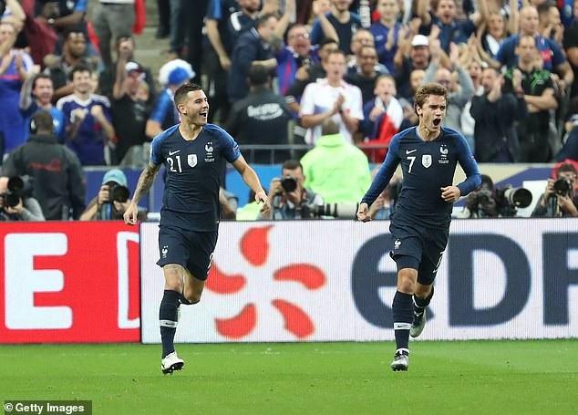 ĐT Pháp đã trở lại mạnh mẽ sau thời gian nghỉ giữa hai hiệp