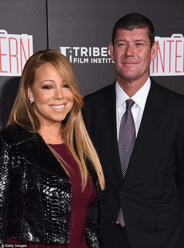 Doanh nhân tỷ phú người Úc James Packer và diva Mariah Carey khi còn gắn bó
