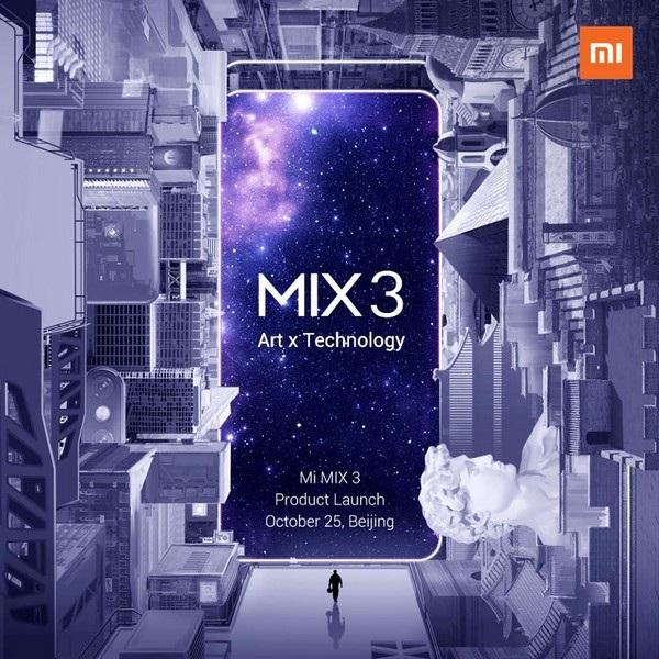 """Hình ảnh """"úp mở"""" Mi Mix 3 sẽ sở hữu thiết kế hiện đại và đẹp mắt"""