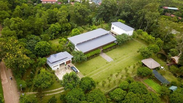 Một khu dinh cơ ở xã Minh Phú huyện Sóc Sơn. (Ảnh: Toàn Vũ)