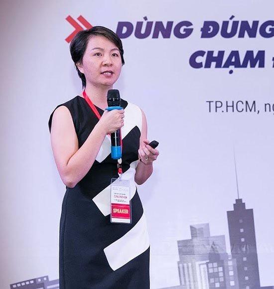 Giám đốc Đối ngoại của sàn thương mại điện tử Sendo.vn Nguyễn Thị Hạnh (Nguồn ảnh: Diễn đàn khởi nghiệp online 2017)