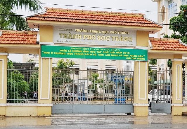 Trường THPT TP Sóc Trăng, nơi xảy ra vụ việc.