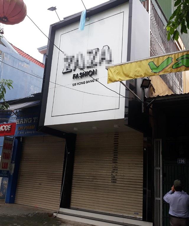 Căn nhà số 128 đường Hồng Bàng nơi Sơn cầm lựu đạn cố thủ suốt 14 tiếng đồng hồ.