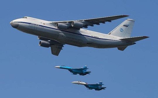 Máy bay vận tải quân sự lớn nhất thế giới Antonov An-124 Ruslan. Ảnh: Times of Israel