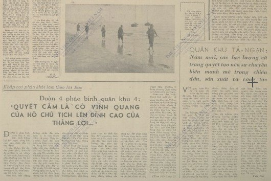 Hình ảnh, thông tin về Quân khu Tả ngạn trên báo đảng thời bấy giờ