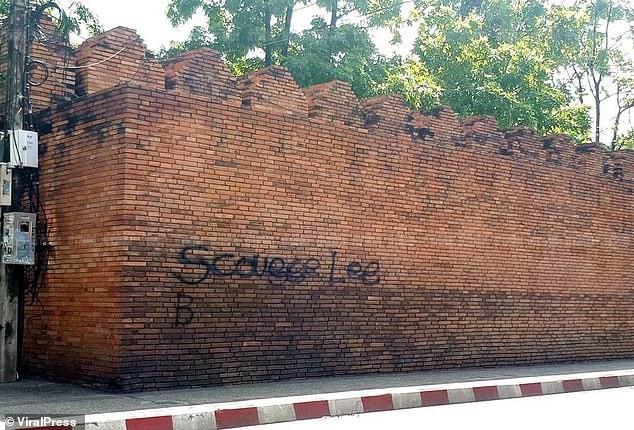 Bức tường thành bị sơn vẽ