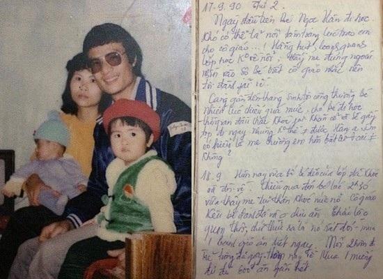 Những trang nhật kí xúc động mà mẹ Ngọc Hân viết về con gái thuở thơ bé.
