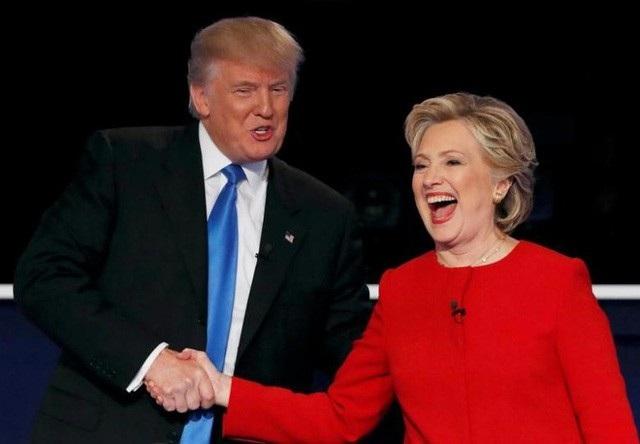 Tổng thống Mỹ Donald Trump và cựu Ngoại trưởng Hillary Clinton (Ảnh: Reuters)