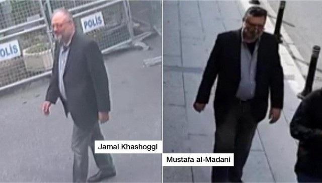 Đặc vụ Ả rập Xê út (phải) bị tình nghi giả trang thành nhà báo Jamal Khashoggi. (Ảnh: Hurriyetdaily)
