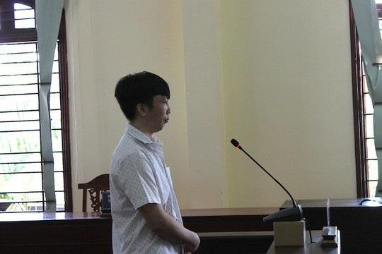 Bị cáo Huy tại tòa