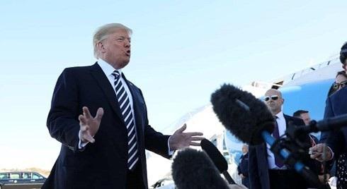 Tổng thống Trump ngày 20/10 tuyên bố Mỹ sẽ rút khỏi hiệp ước hạt nhân INF với Mỹ. Ảnh: Reuters