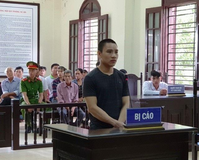 Bị cáo Nguyễn Quang Thành tại phiên tòa.
