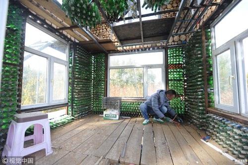 Ngôi nhà bia đang trong giai đoạn hoàn thiện và đã được xây dựng trong 4 tháng.