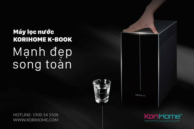 Máy lọc nước Kbook là dòng máy mỏng nhất trên thị trường hiện nay với kích thước 19cm