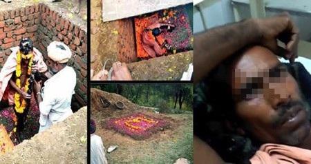 Deeraj Kharol đã tự chôn sống mình với mong muốn trở thành thần tiên