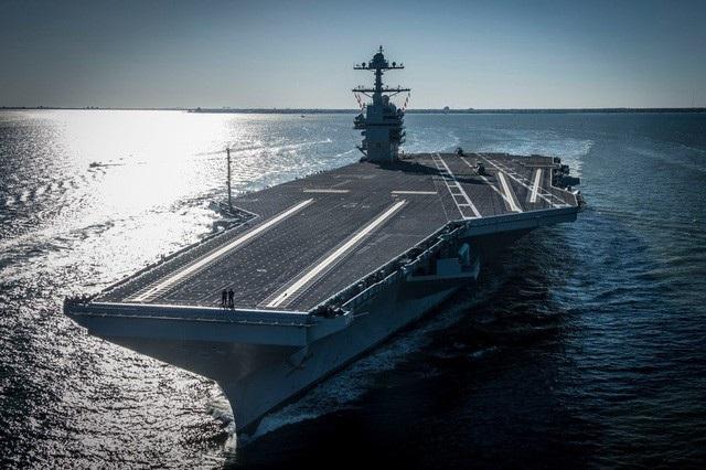 Tàu sân bay lớp Gerald R. Ford (Ảnh: Hải quân Mỹ)