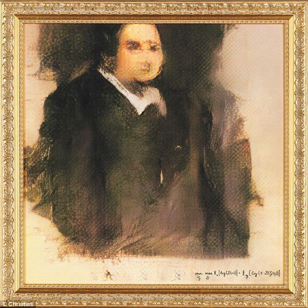 Tranh chân dung khắc họa một người đàn ông giả tưởng có tên Edmond Belamy