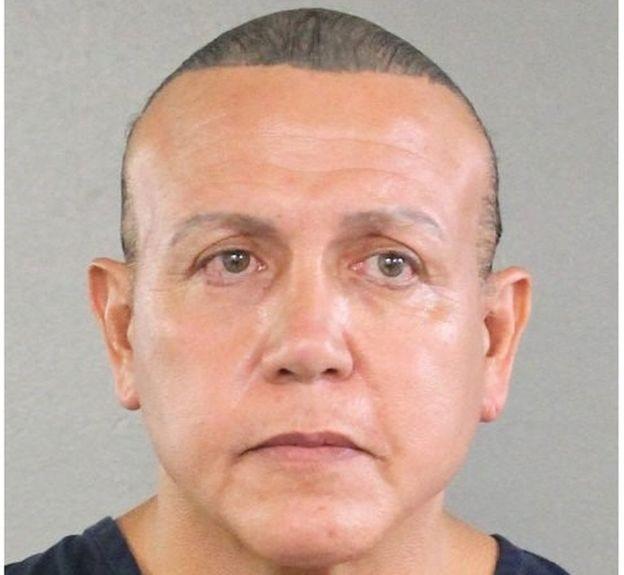 Nghi phạm Cesar Sayoc (Ảnh: Văn phòng cảnh sát hạt Broward)
