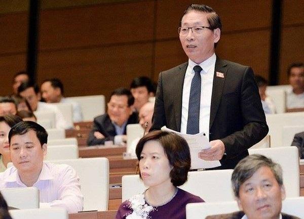 Đại biểu Nguyễn Văn Chiến phát biểu tại hội trường